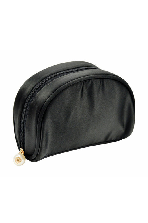 Satin Make Up Bag - Black