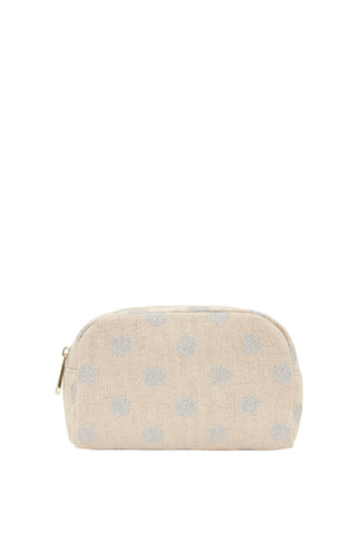 Small Cosmetics Bag Silver Spot
