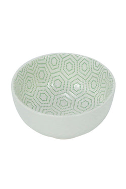 Small Bowl Hexagon Green