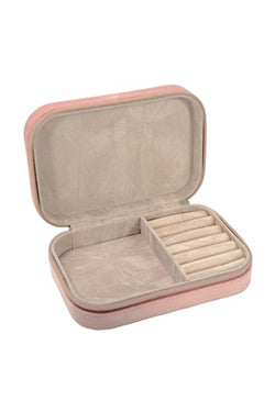Travel Jewellery Box Pink