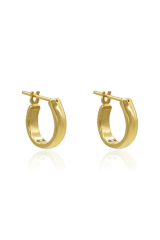 Staple Hoop Earring Sterling Silver 14K Gold Plated