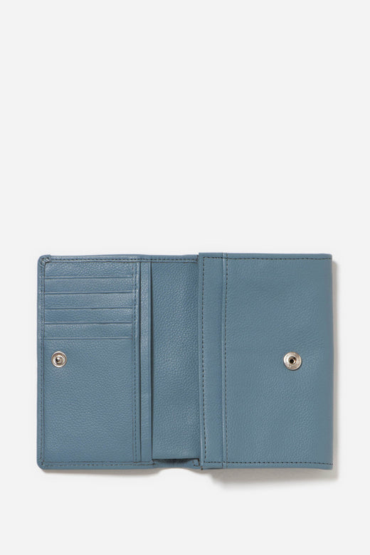 Ellie Soft Leather Storm Blue Wallet