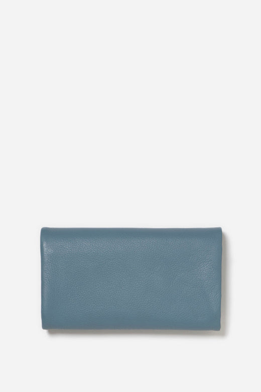 Paiget Soft Leather Storm Blue Foldover Wallet