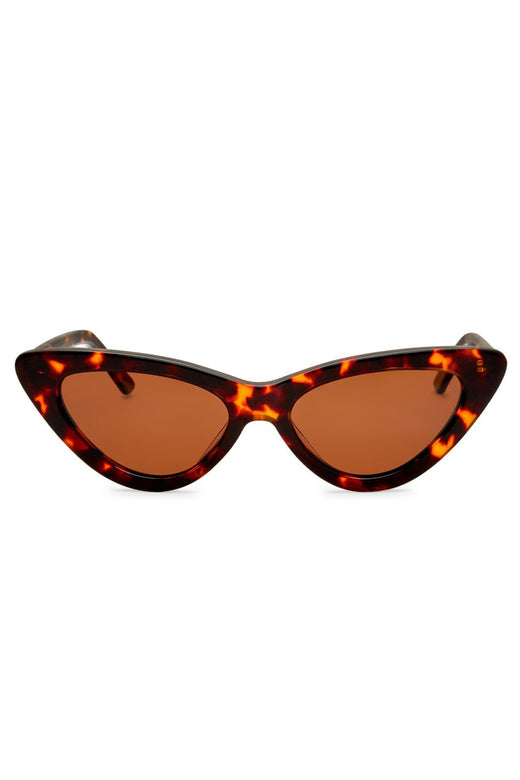 PO Polarised Vintage Cats Eye Tort with Brown Lens Sunglasses