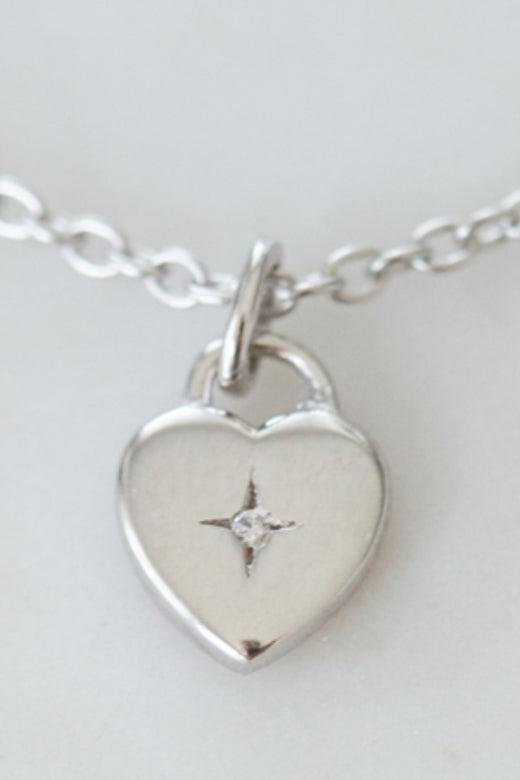 Sweetheart Necklace Silver