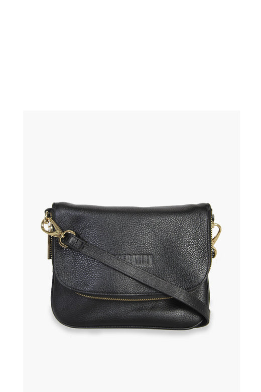 Take Me Black Shoulder Bag with Flap