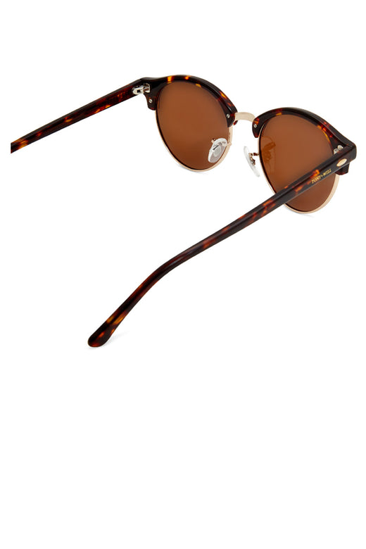Nile Polarised Round Vintage Tort with Brown Lens Sunglasses