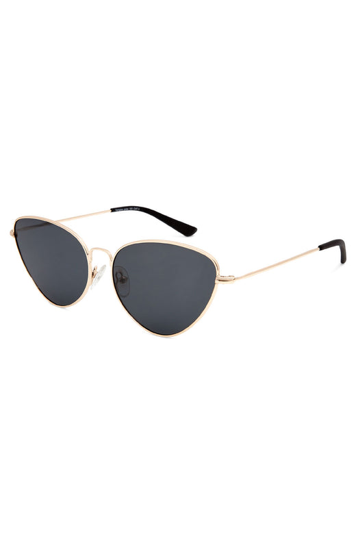 Yangtze Polarised Reto Cat Eye Gold with Smoke Lens Sunglasses