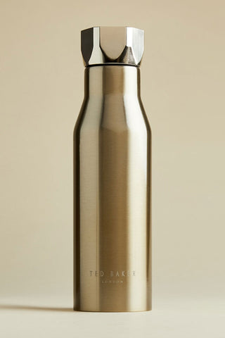 Water Bottle Hexagonal Lid Pale Gold 425ml