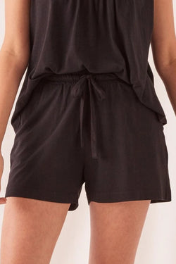 Tilly Black Cotton Short