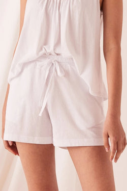 Tilly White Cotton Short