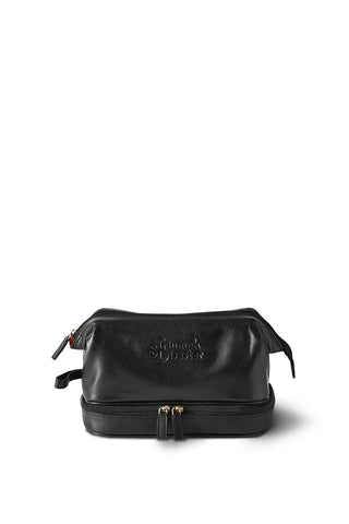 Frank The Dopp Leather Black Toilet Bag