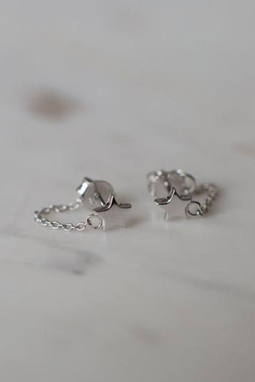 Twinkle Chain Stud Earrings
