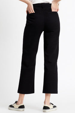 Victory Straight Black Trouser Pant
