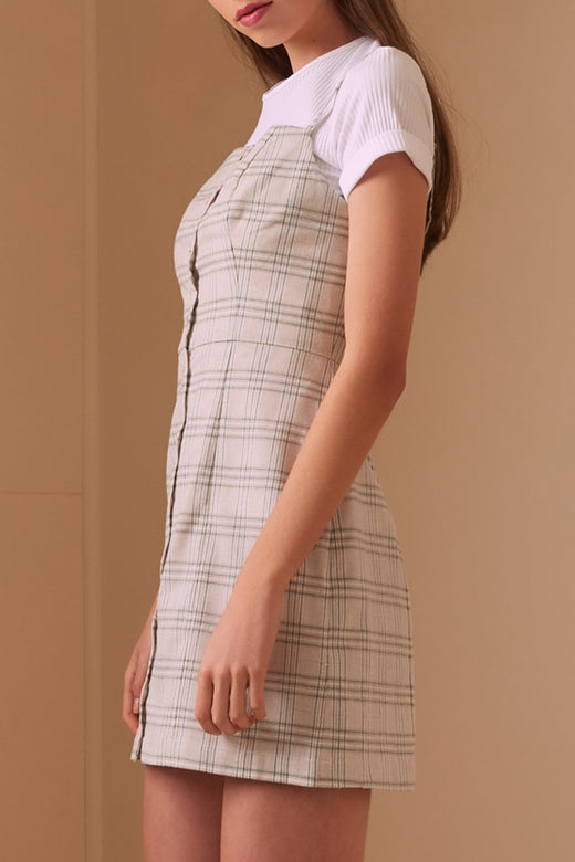 Violet Sand Strappy Check Dress