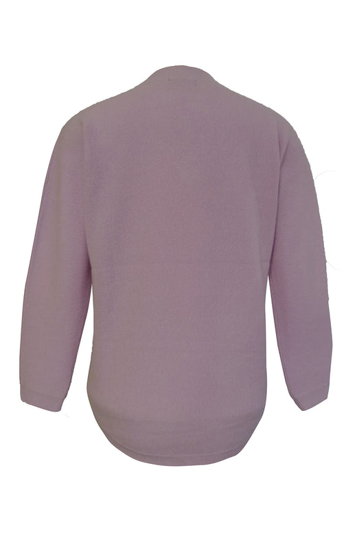 Paige Cashmere LS V Neck Lilac Lullaby Sweater