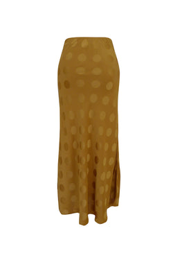 Alice Luxury Bias Cut Sulphur Spot Midi Skirt