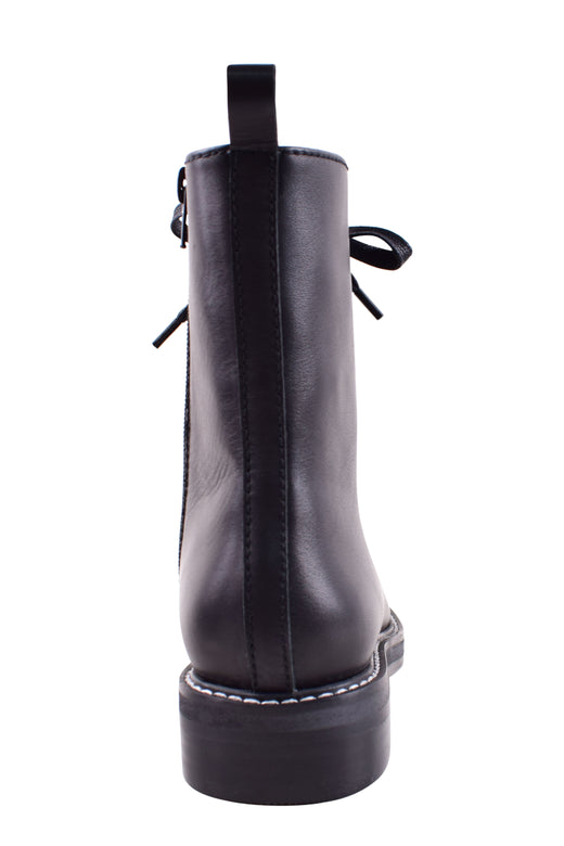 Waiter II Lace up Combat Black Leather Boot