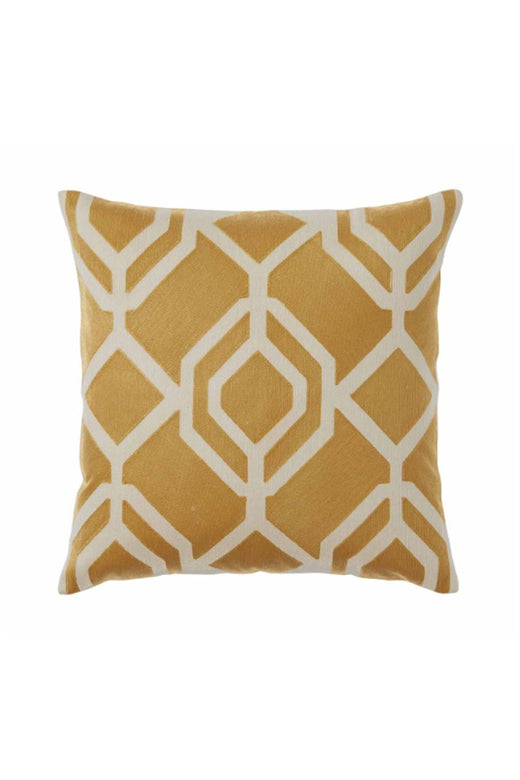 Konya Hexagonal Pattern Amber Cushion 50x50cm