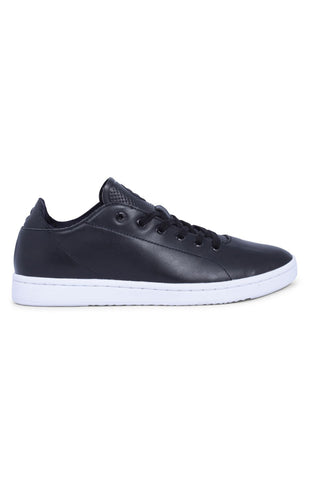 Jane Black Leather Sneakers