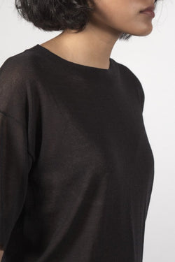 The Dream Black Knit Tee