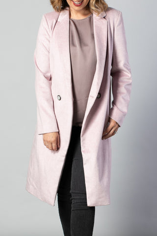 Wall Street Sweet Pink Double Breasted Coat