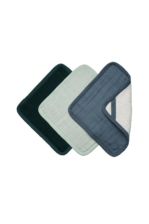 Organic Cotton Coastline Washcloths Pack3