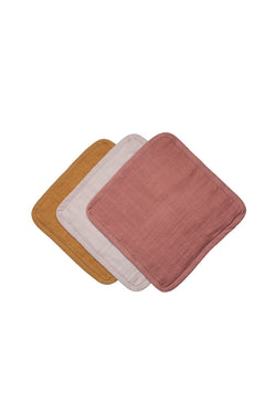Organic Cotton Sunset Washcloths Pack3