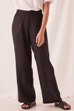 Wide Leg Canvas Black Pant