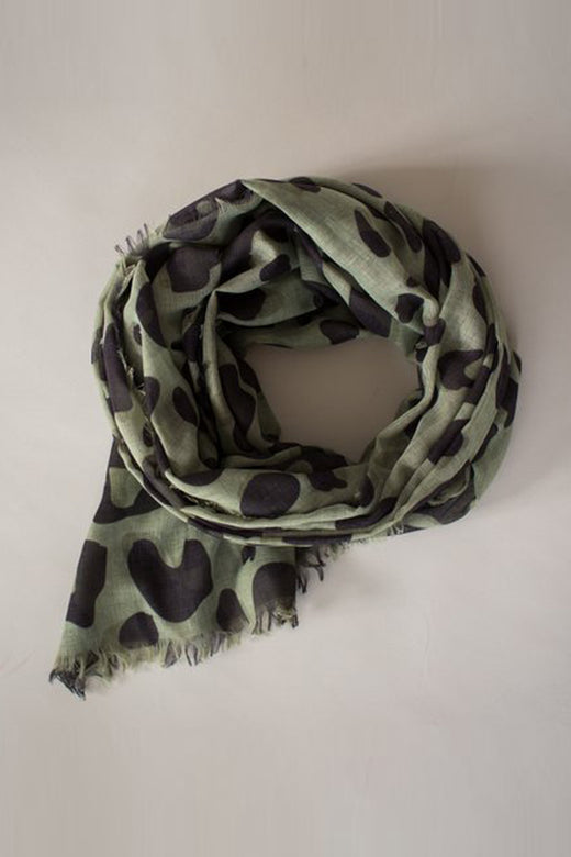 Wild Maxi Olive Scarf