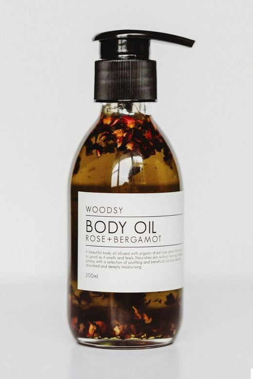 Rose + Bergamot Body Oil 200ml