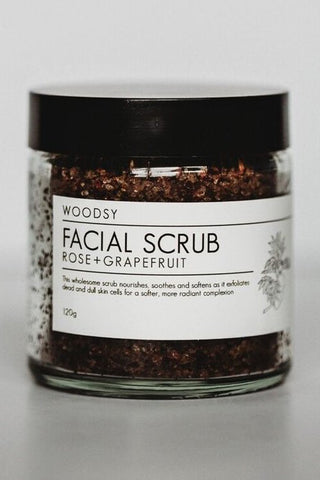 Rose + Grapefruit Facial Scrub 120g