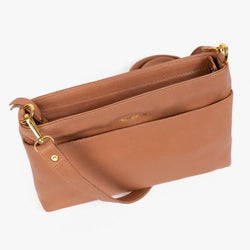 The Rose Crossbody Tan Leather Bag