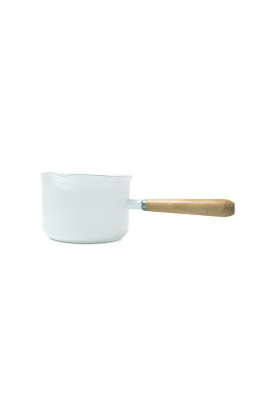 Enamel White Gravy Pot