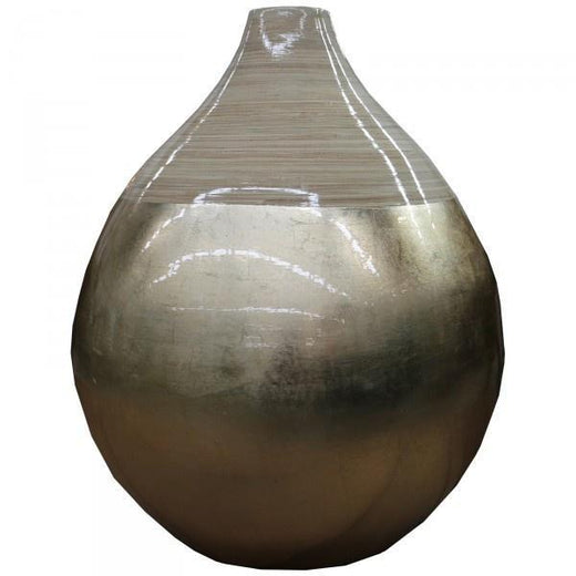 LeForge (Bamboo Vase) 40cm Grey OR Gold