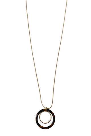 Circle And Ball Gold Necklace