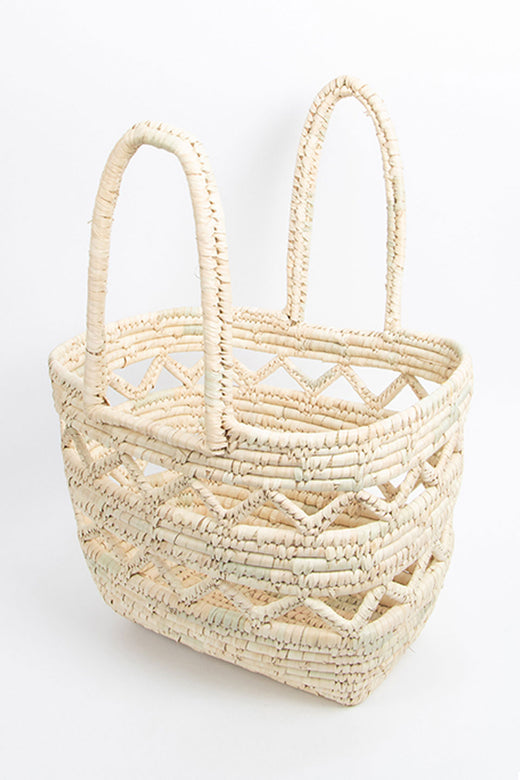 Tiffen Natural Cane Shopping Basket