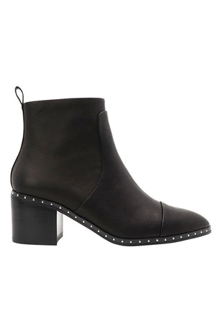 Baxter Slim Black Stud Detail Boot