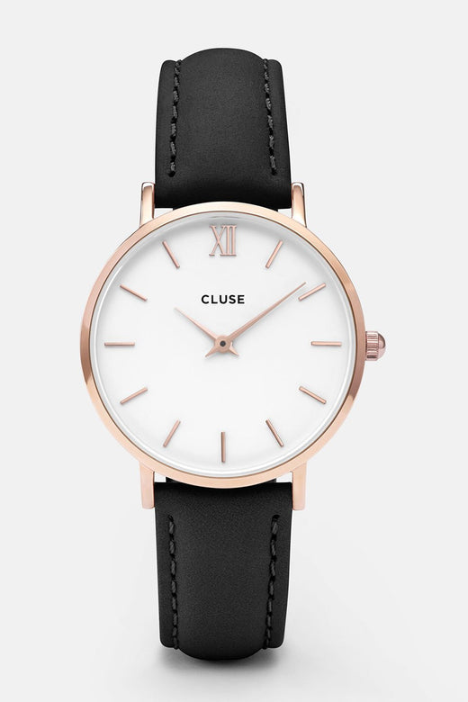 Minuit Black Rose Gold Watch
