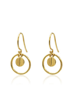 Ridge Halo 14k Gold Plate Earrings