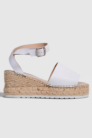 Candid Espadrille Milk Wedge Heel
