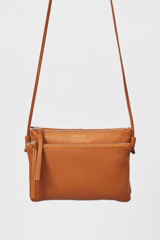 Caughey Double Pocket Camel Shoulder Bag