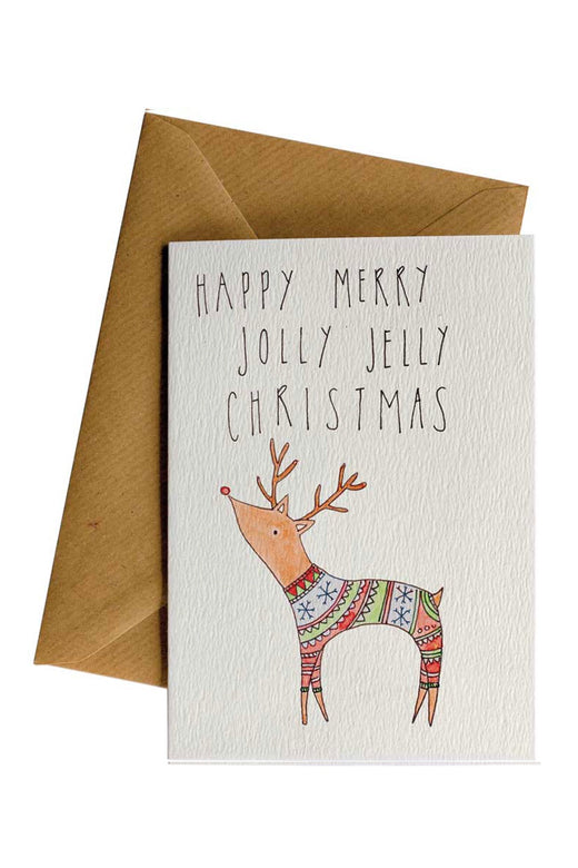 Jolly Jelly Reindeer Greeting Card