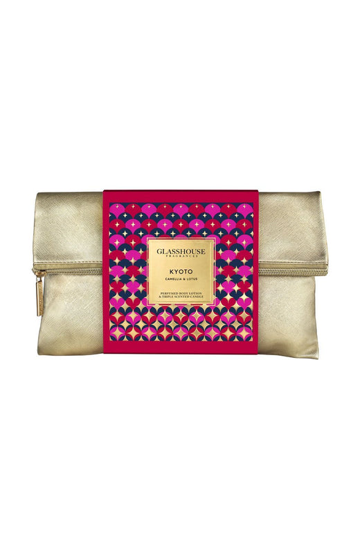 Gold Clutch Bag Christmas Gift Pack
