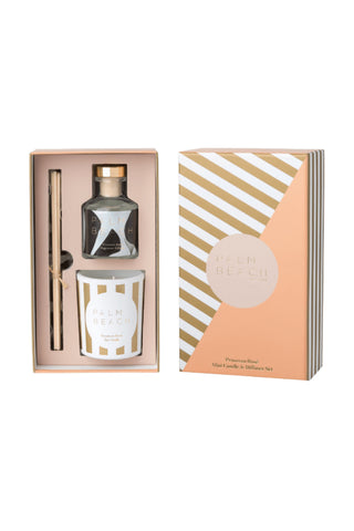 Prosecco Rosa Mini Candle + Diffuser Set