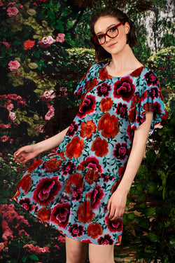 Dress We Can Turquoise Floral Shift Dress