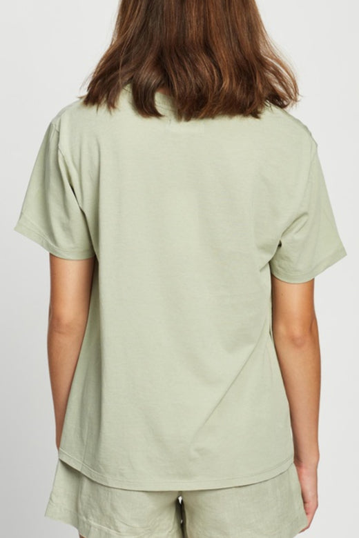 The Crew Soft Green Cotton Tee