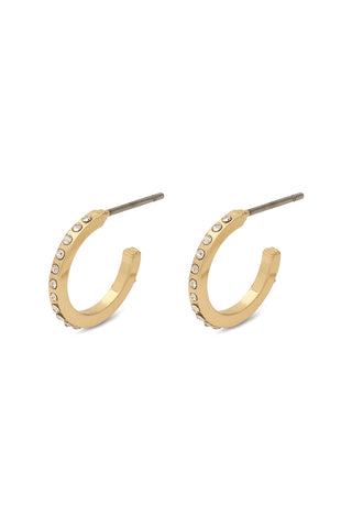 Roberta Pi Gold Plated Crystal 12mm Earrings