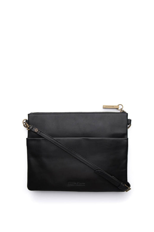 Juliette Black Leather Clutch
