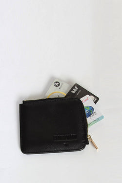 Day Square Black Wallet